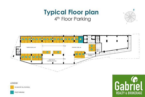 4th floor parking floor plan, casa mira guadalupe