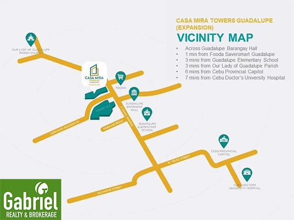 vicinity map of casa mira guadalupe