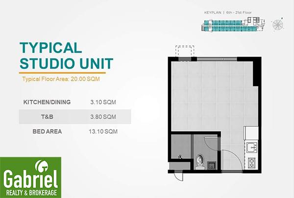 studio unit floor plan