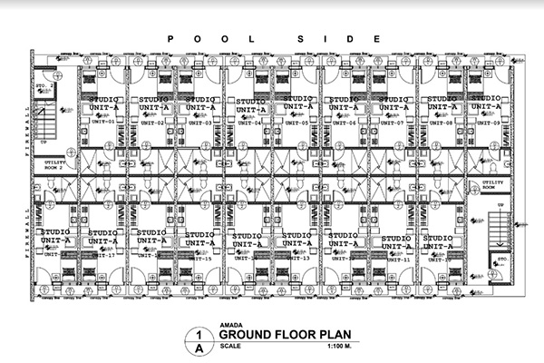 building floor plan of amada condominium