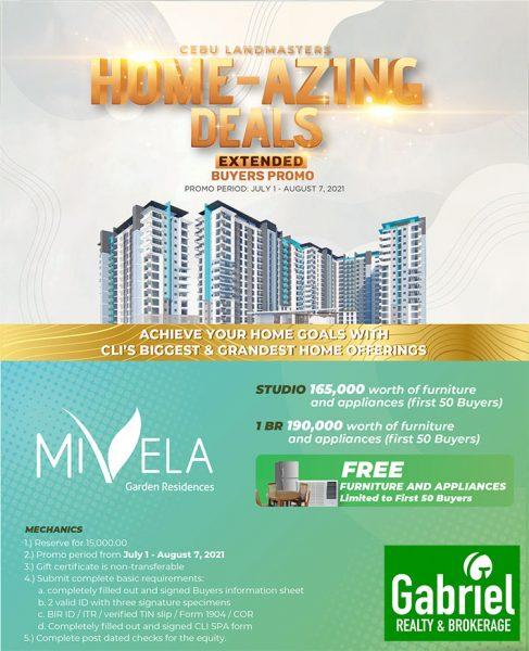 mivela garden residences promo