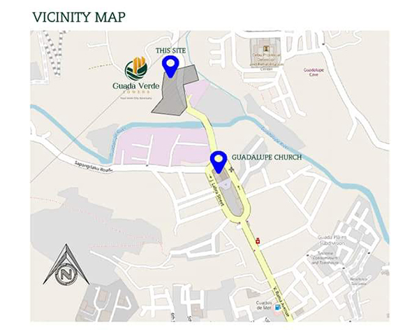vicinity map of guada verde towers
