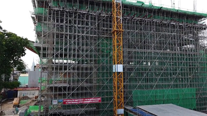 construction update of city clou
