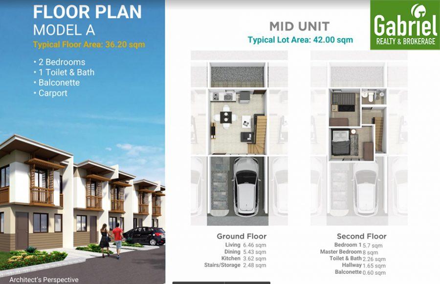 casa mira south townhouse a floor plan