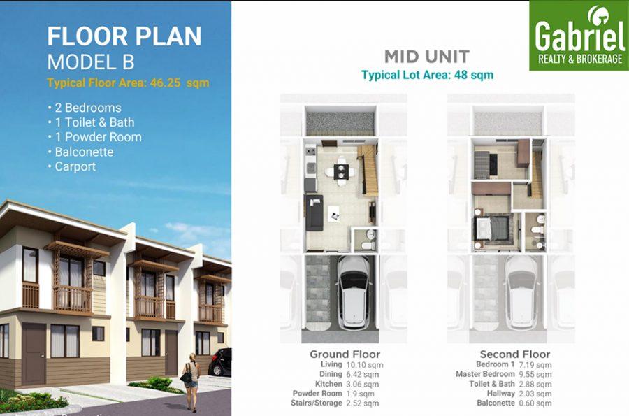 casa mira south expansion townhouse model b