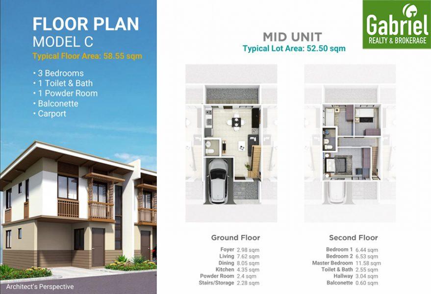 casa mira south expansion floor plan model c